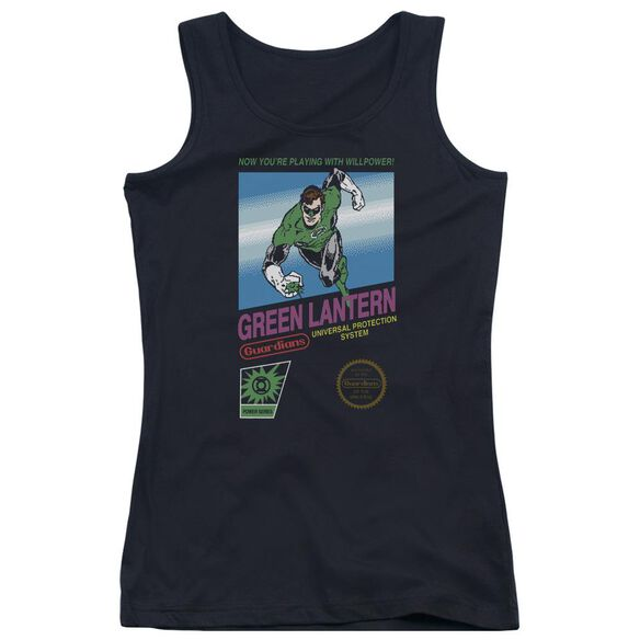Green Lantern Box Art Juniors Tank Top