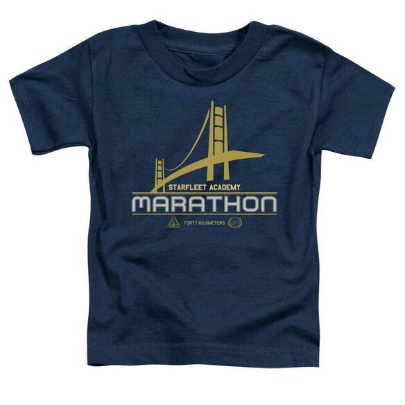 Star Trek Marathon Logo Short Sleeve Toddler Tee Navy Sm T-Shirt