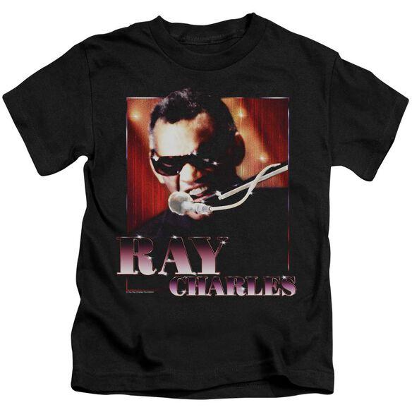 Ray Charles Sing It Short Sleeve Juvenile Black T-Shirt