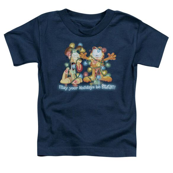 Garfield Bright Holidays Short Sleeve Toddler Tee Navy T-Shirt