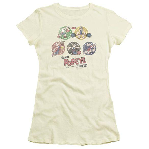 POPEYE TEAM POPEYE - S/S JUNIOR SHEER - CREAM T-Shirt