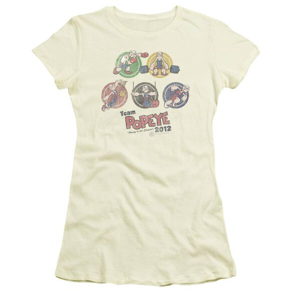 Popeye Team Popeye Short Sleeve Junior Sheer T-Shirt
