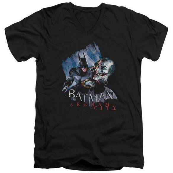 Arkham City Joke's On You! Short Sleeve Adult V Neck T-Shirt