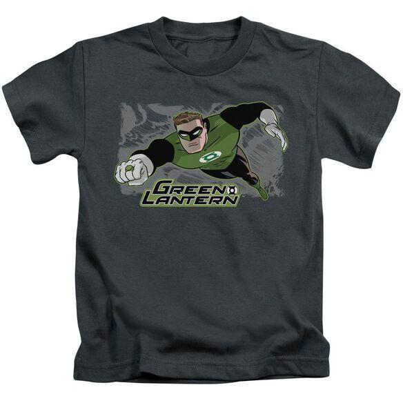 Jla Space Cop Short Sleeve Juvenile Charcoal T-Shirt