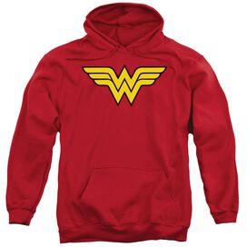 Dc Wonder Woman Logo Adult Pull Over Hoodie
