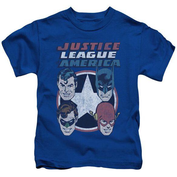 Dco 4 Stars Short Sleeve Juvenile Royal Blue T-Shirt