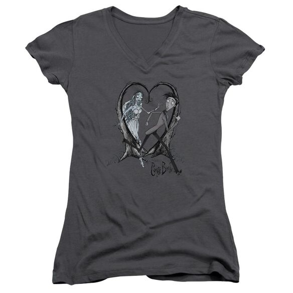 Corpse Bride Runaway Groom Junior V Neck T-Shirt