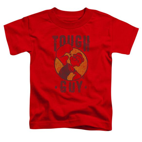 Popeye Tough Guy Short Sleeve Toddler Tee Red T-Shirt