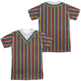 Sesame Street Bert Costume (Front Back Print) Short Sleeve Adult Poly Crew T-Shirt