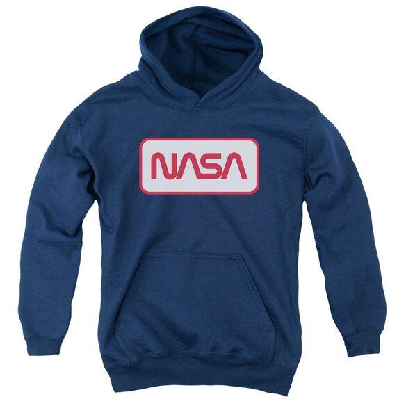 Nasa Rectangular Logo Youth Pull Over Hoodie