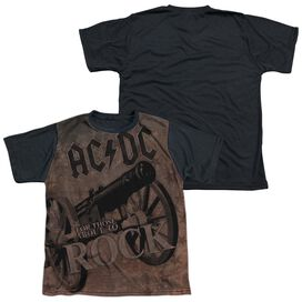 Acdc We Salute You Short Sleeve Youth Front Black Back T-Shirt