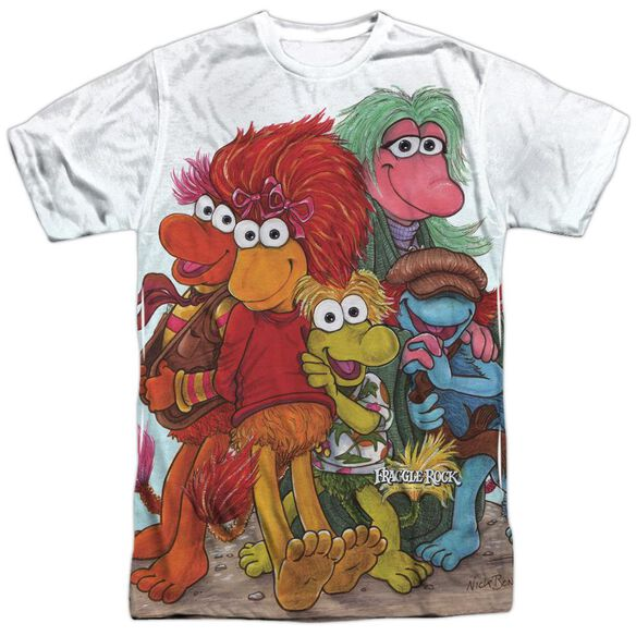 Fraggle Rock Group Shot Short Sleeve Adult Poly Crew T-Shirt