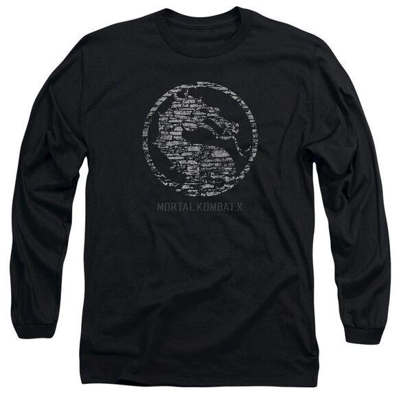 Mortal Kombat Stone Seal Long Sleeve Adult T-Shirt