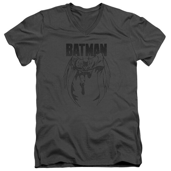 Batman Grey Noise Short Sleeve Adult V Neck T-Shirt
