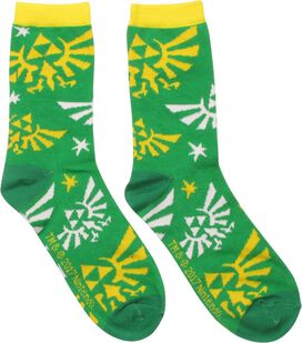 Zelda Logo All Over Crew Socks