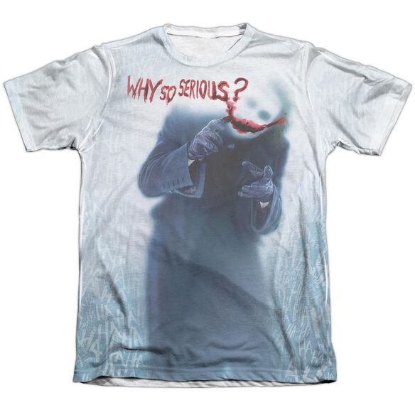 Dark Knight Why Adult Poly Cotton Short Sleeve Tee T-Shirt