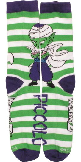 Dragon Ball Z Chibi Piccolo Striped Crew Socks