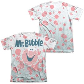Mr Bubble Clean Sweep (Front Back Print) Adult Poly Cotton Short Sleeve Tee T-Shirt