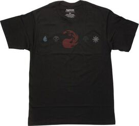Magic The Gathering Red Mana Line T-Shirt