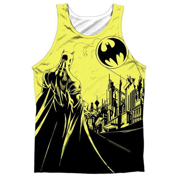Batman Bat Signal Adult 100% Poly Tank Top