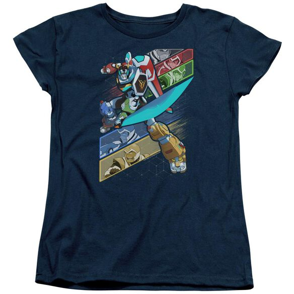 Voltron Crisscross Short Sleeve Womens Tee T-Shirt