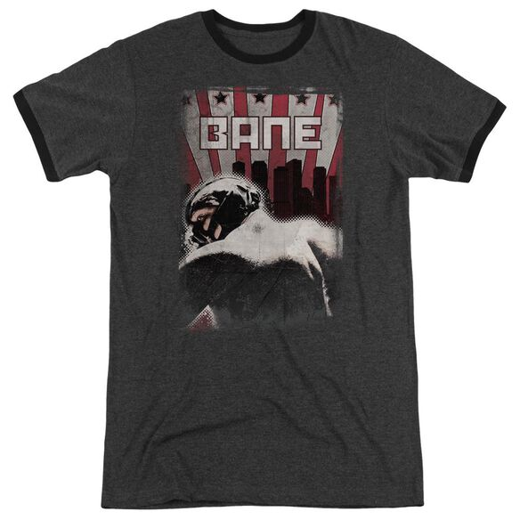 Dark Knight Rises Bane Poster Adult Heather Ringer Charcoal