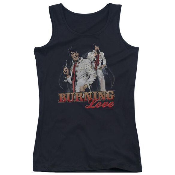 Elvis Presley Burning Love Juniors Tank Top