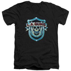 La Guns La Guns Shield Short Sleeve Adult V Neck T-Shirt