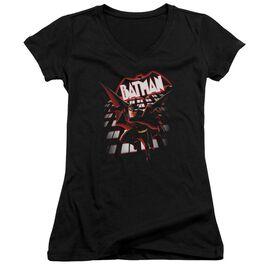 Beware The Batman From The Top Junior V Neck T-Shirt
