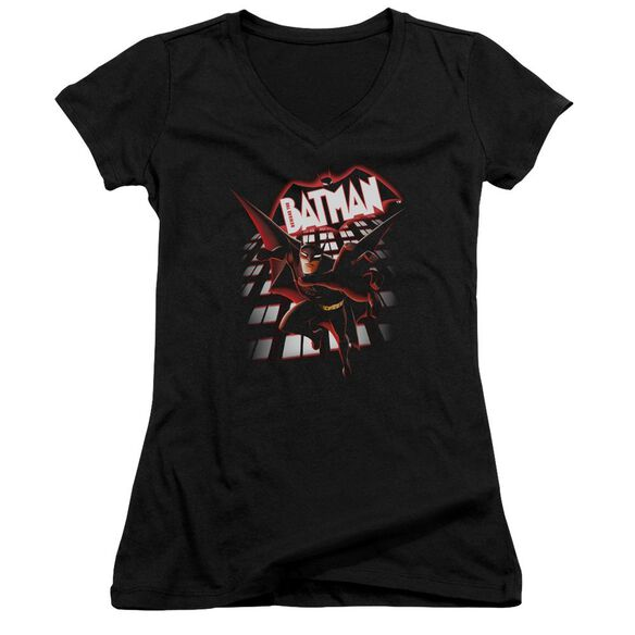 Beware The Batman From The Top Junior V Neck T-Shirt