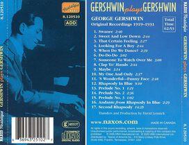 George Gershwin - Gershwin Plays Gershwin [Naxos]