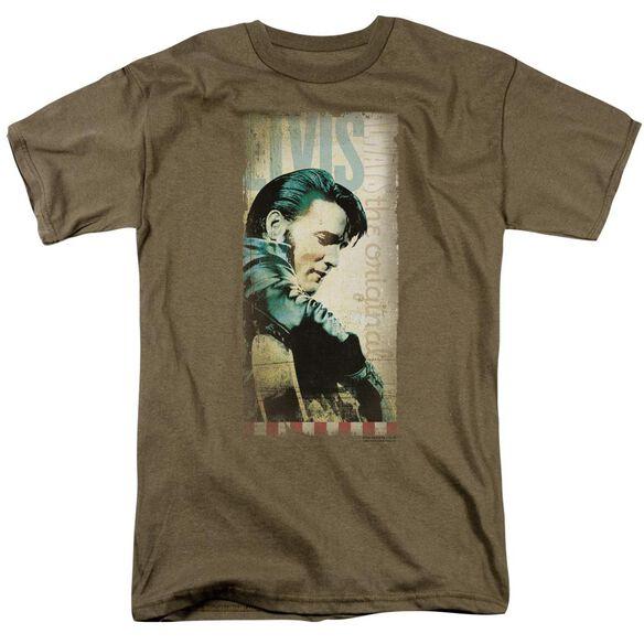 Elvis The Original Short Sleeve Adult Safari Green T-Shirt