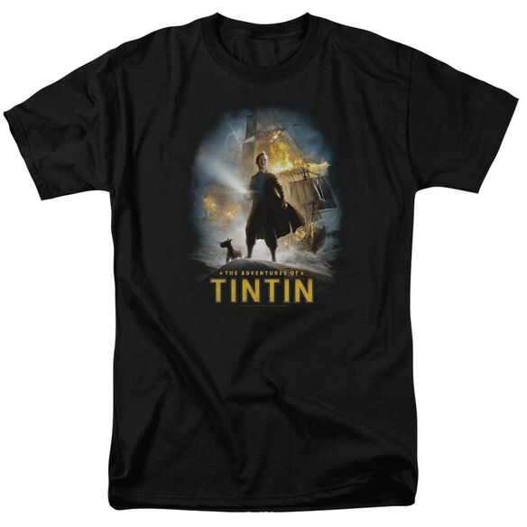 Tintin Poster Short Sleeve Adult T-Shirt