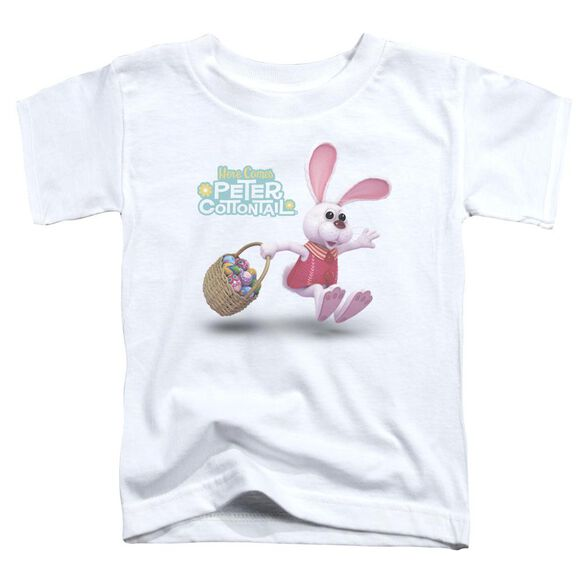 Here Comes Peter Cottontail Hop Around Short Sleeve Toddler Tee White T-Shirt