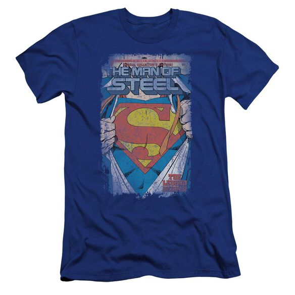 Superman Legendary Premuim Canvas Adult Slim Fit Royal