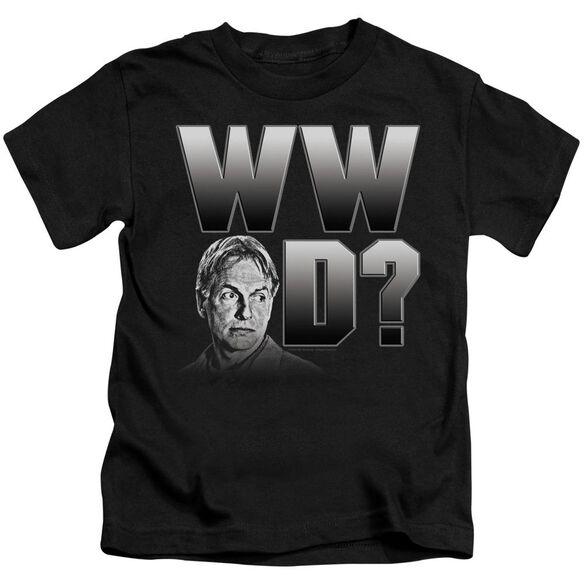 Ncis What Would Gibbs Do Short Sleeve Juvenile Black T-Shirt