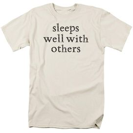 Sleeps Well Short Sleeve Adult Cream T-Shirt