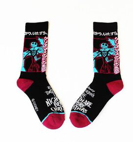 Nightmare Before Christmas Neon Pink Socks