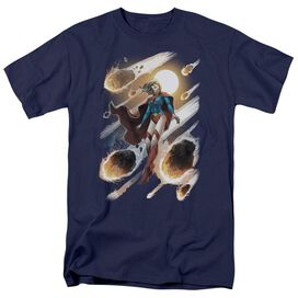 JLA SUPERGIRL #1-S/S ADULT 18/1 - NAVY T-Shirt