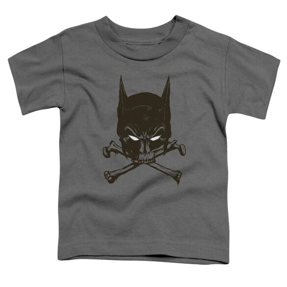 Batman Bat And Bones Short Sleeve Toddler Tee Charcoal Sm T-Shirt