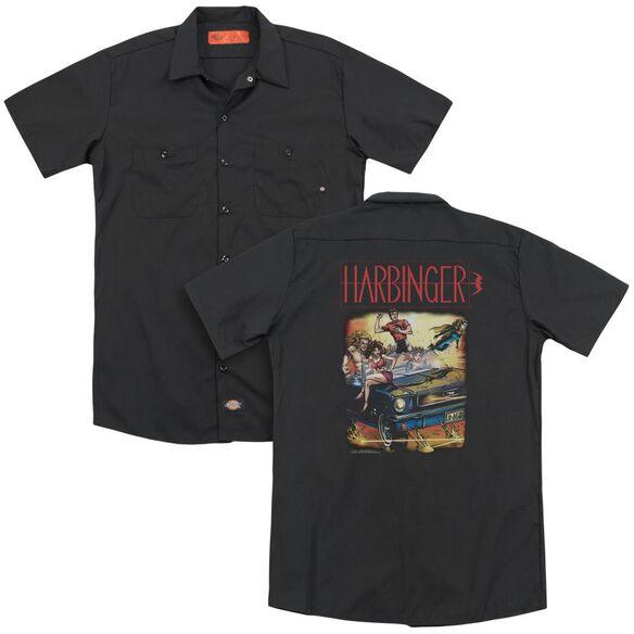 Harbinger Vintage Harbinger(Back Print) Adult Work Shirt