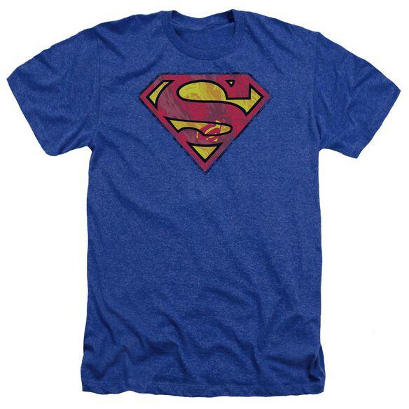 Superman Action Shield - Adult Heather - Royal Blue