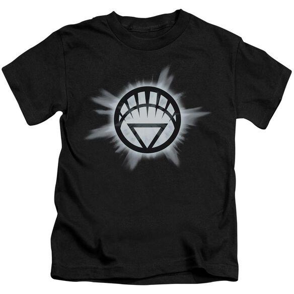 Green Lantern White Glow Short Sleeve Juvenile Black T-Shirt