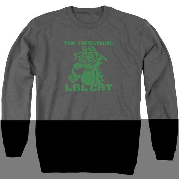 Garfield Og Lol - Adult Crewneck Sweatshirt - Charcoal