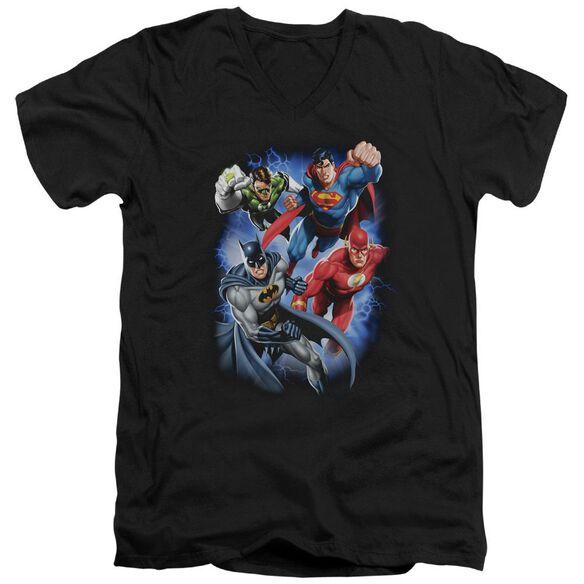 Jla Storm Makers Short Sleeve Adult V Neck T-Shirt