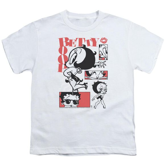 Betty Boop Stylin Snaps Short Sleeve Youth T-Shirt