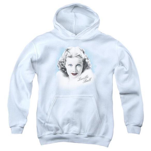 Lucille Ball In Blue Youth Pull Over Hoodie
