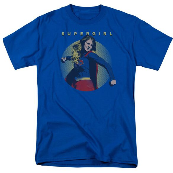 Supergirl Classic Hero Short Sleeve Adult Royal T-Shirt