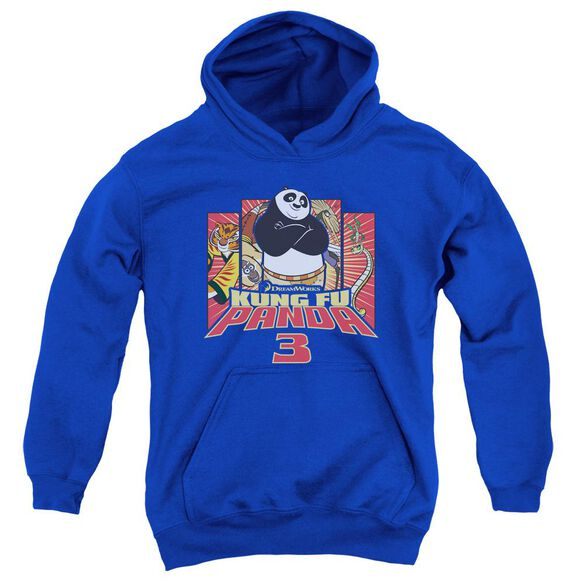 Kung Fu Panda Kung Furry Youth Pull Over Hoodie Royal