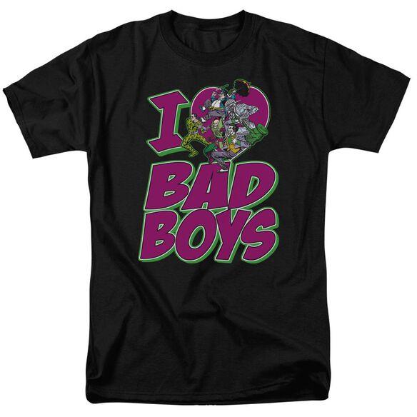 Dc I Heart Bad Boys Short Sleeve Adult T-Shirt